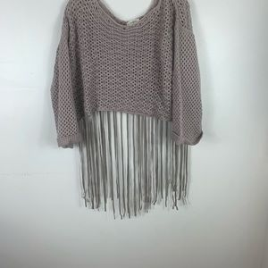 Crochet crop top with fringe by Umgee size med